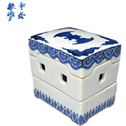 Japanese Kyoto ware Porcelain Kogo or Lidded Box by Famous 1st Class Potter Heian Shunpo Inoue II