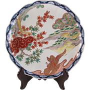 Antique Japanese Fukagawa Porcelain Plate