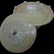 Japanese Vintage Seto Ware 瀬戸 Pottery Rare Style Daiza bōru or Pedestal Bowl