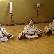 Japanese Vintage Hinamatsuri Shicho 雛祭 仕丁 Dolls Collection