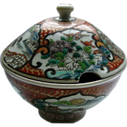 Japanese Antique Rare  Porcelain Tureen by Hichozan Shinpo sei  肥碟山信甫製 Porcelain Tureen