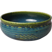Japanese Vintage Narumi-Oribe 織部焼 Kashiki of Rare Blue and Green  Colors
