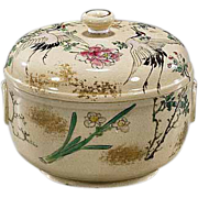 Rare Old Japanese  Kiyomizu Earthenware Box by Famous Kinkozan