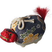 Japanese 1950's Rare Hariko Nodder of a Shishimai  (Lion Dance Doll)
