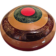 A Rare Japanese Vintage  Lacquered Wood Kogo or Incense Holder