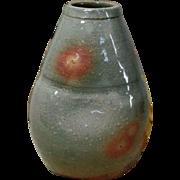 Human Cultural Treasure Tobei Tahara 12th 山口県 Hagi Pottery 萩焼 kake- Hanaire or Hanging Vase