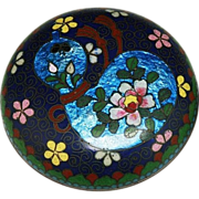 Antique Japanese Cloisonne Ink or Stamp Box