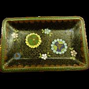 Antique Japanese Cloisonne Style Plate