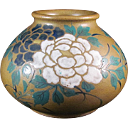 Japanese Vintage Pottery Rare Tea Dust Glazed Vase by Famous Okada Gyouzan ギョ斬