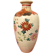 Japanese Vintage Satsuma Earthenware Pottery Vase