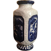 Japanese Antique Blue and White Vase by Famous Hirado