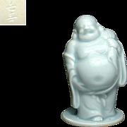 Japanese Vintage Nabeshima  Porcelain Okimono/ Statue of Budai/ Hotei By Famous Potter Choshun Ogasawara