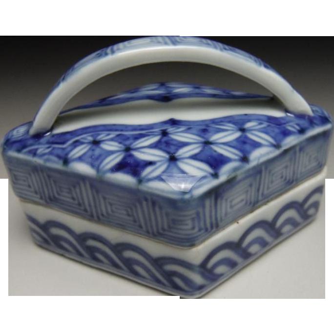 Japanese  Rare Antique Koto Ware or Koto u~ea  Porcelain Kogo or Incense Holder