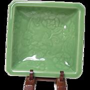 Japanese Antique Nabeshima 鍋島 Celadon Square Plate