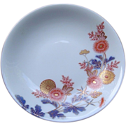 Japanese Vintage Porcelain Dish with Chrysanthemum by Famous Fukagawa -Seiji Co 深川製磁