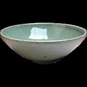 Japanese Vintage Celadon Glazed Tea Bowl by Chief Priest Seikou Hirata of the 天龍寺 Tenryu-ji Temple