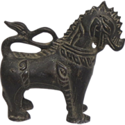 Wonderful Chinese Vintage Tooled Copper Ware Statue or Ornament of a 马 Mǎ (Horse)