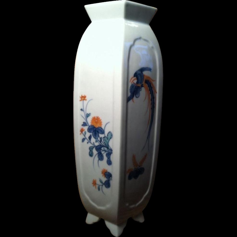 Japanese Mid-Century Tall Elegant  Porcelain Vase by Nabeshima Seizan-gama 鍋島青山