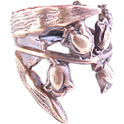 Lily Ring Wrapped Adjustable Hand Made