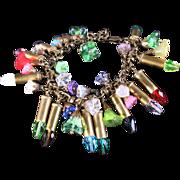 Bullet Bracelet Multicolor Bracelet Charm Bracelet Bullet Casing Jewelry