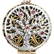 Tree Of Life Necklace Compass Necklace Steampunk Necklace Working Compass Tree Of Life Locket
