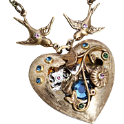 Steampunk Necklace Heart Necklace Steampunk Heart