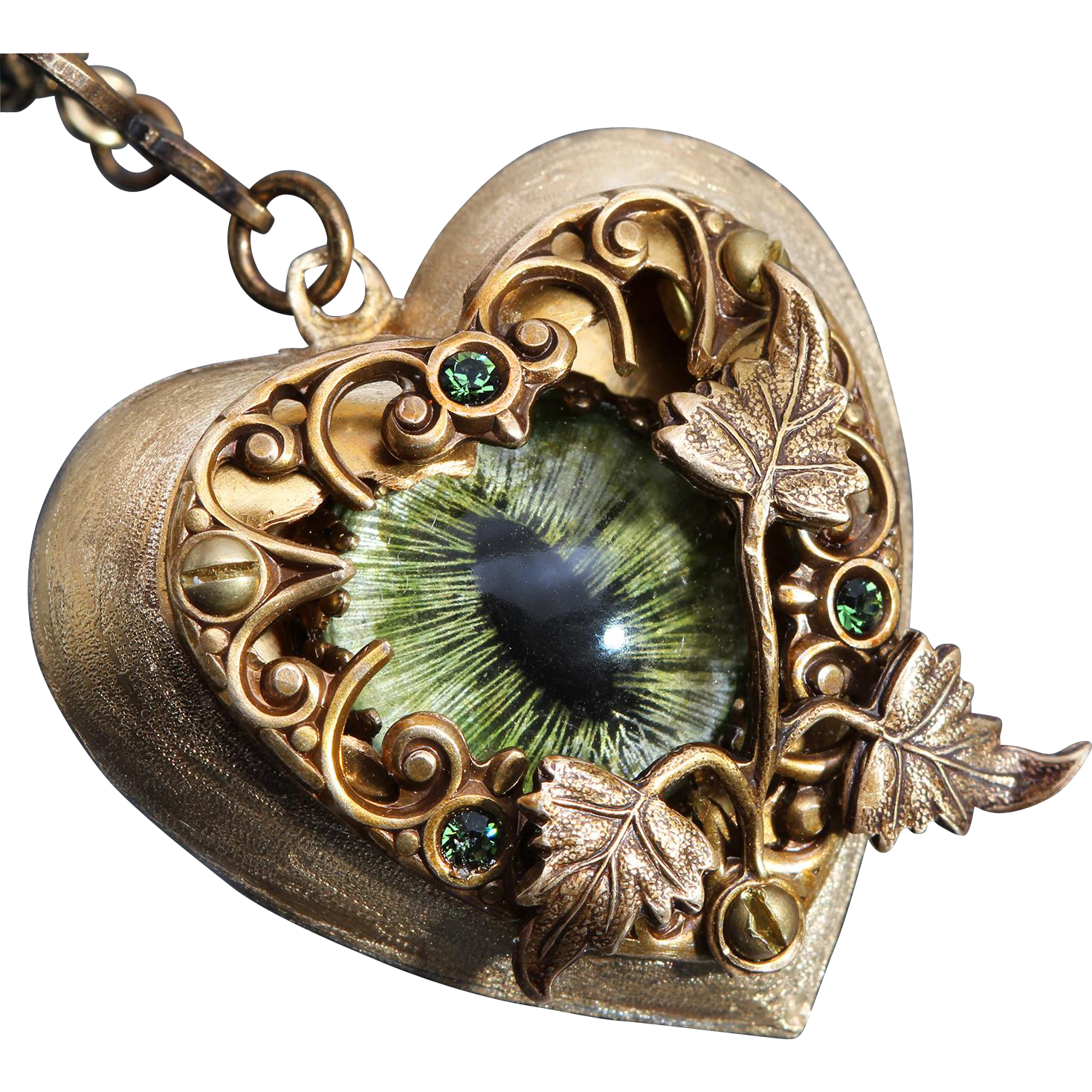 Steampunk Necklace Dragon Eye Necklace I Love You Necklace