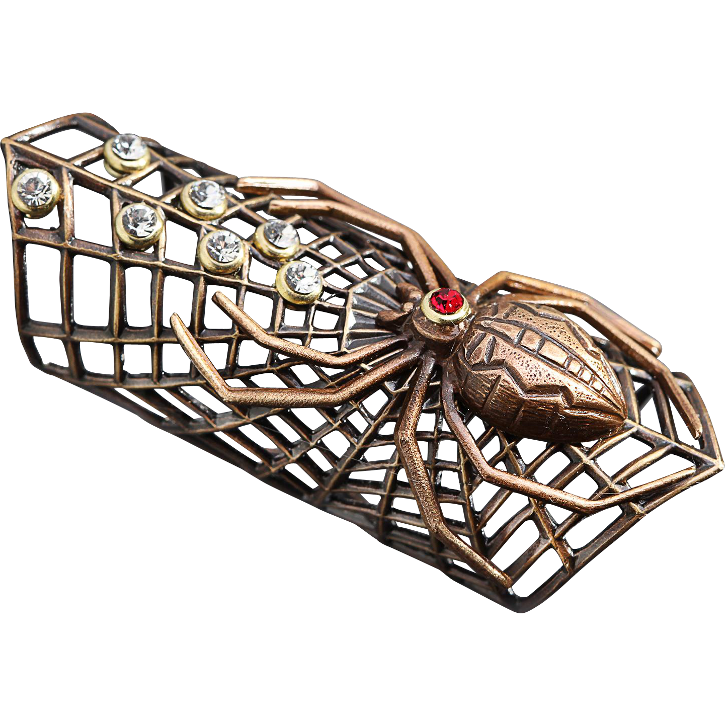 Spider Web Spider Ring Long Knuckle Ring Web Spider