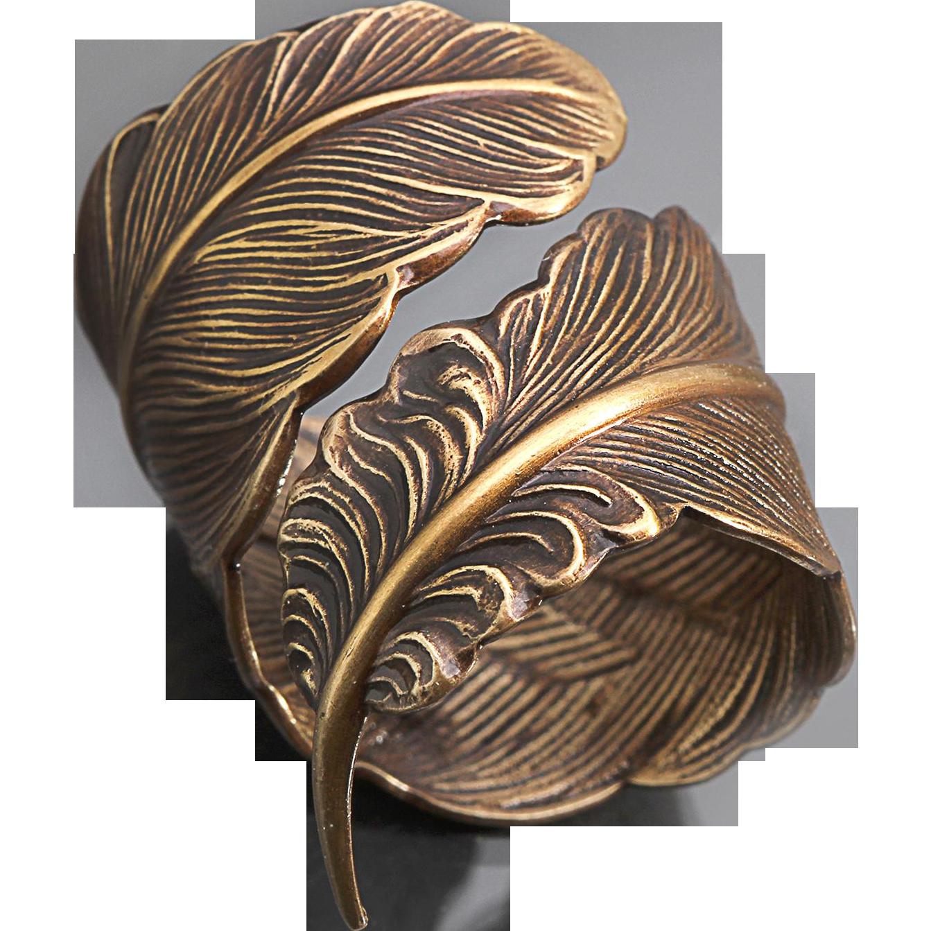 mens thumb ring feather ring women unisex ring boho