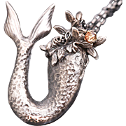 Mermaid Tail Pendant Mermaid Tail Mermaid Tail Necklace