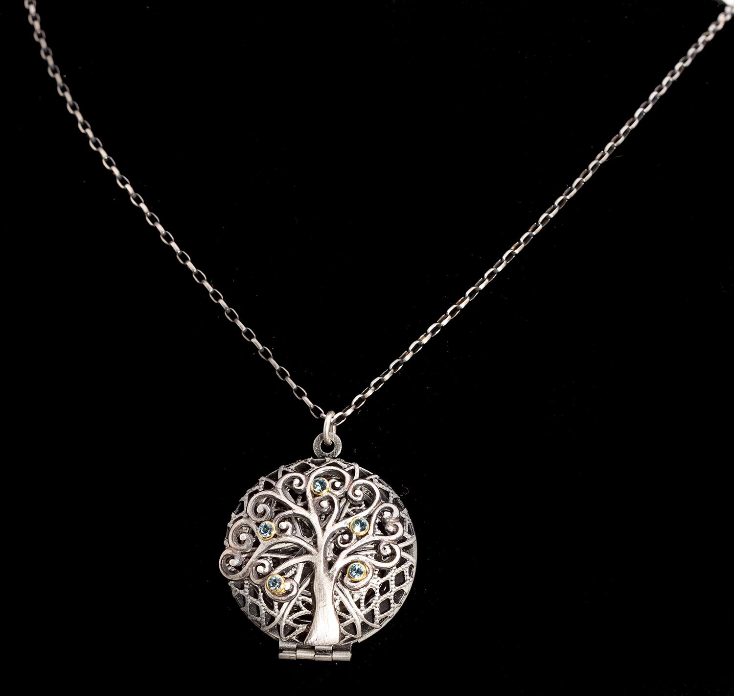 gold rose sterling tree lifes jewellery silver life s with necklace finish lockets