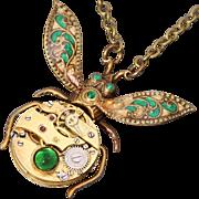 Steampunk Necklace Bug Necklace Beetle Necklace Steampunk Pendant