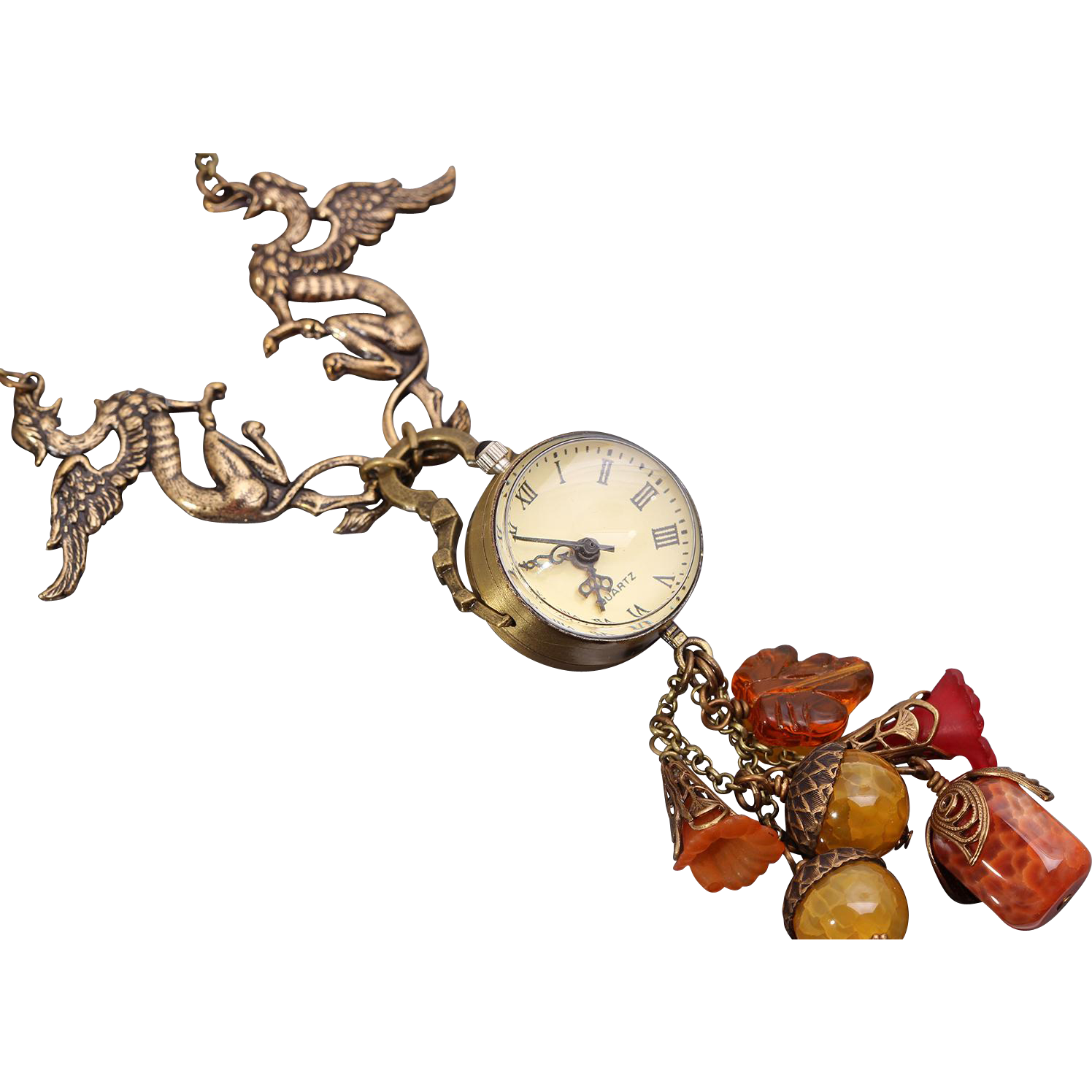 Watch Necklace Watch Women Steampunk Watch Necklace