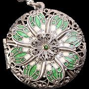 Picture Locket Silver Locket Necklace Photo Locket Necklace