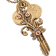 Key Pendant Steampunk Necklace Key Pendant Necklace Key Necklace