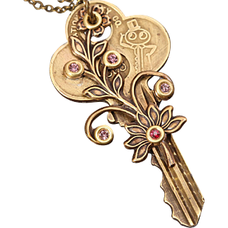Key Pendant Steampunk Necklace Key Pendant Necklace Key Necklace