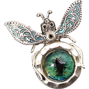 Bug Brooch Pin Beetle Brooch Pin Steampunk Brooch Pin Evil Eye