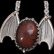 Vintage Mood Stone Mood Stone Necklace Bat Necklace Gothic