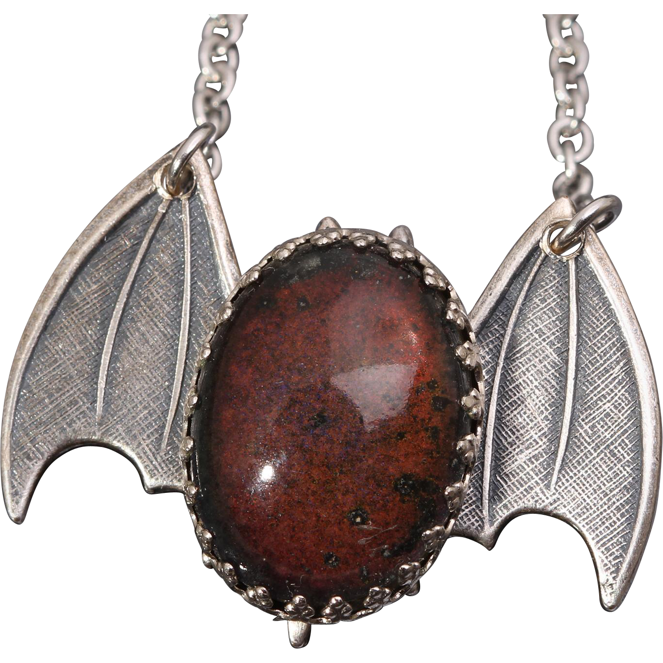 Vintage Mood Stone Mood Stone Necklace Bat Necklace Gothic
