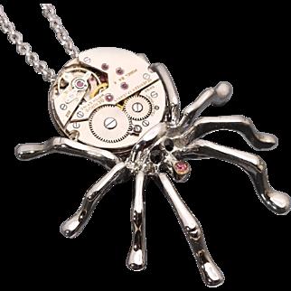 Steampunk Necklace Spider Necklace Spider Pendant Halloween Jewelry