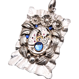 Sterling Silver Steampunk Pendant Steampunk Necklace