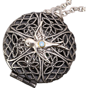 Bird Necklace Silver Bird Necklace Compass Necklace Locket Necklace
