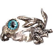 Tree Branch Ring Dragon Eye Ring Fine Silver Ring Eye Ring