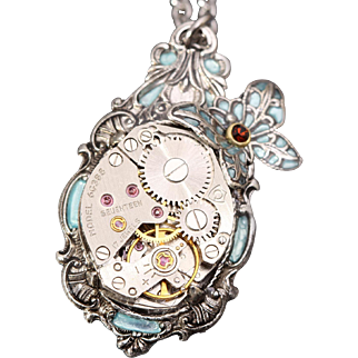 Steampunk Necklace Steampunk Pendant Steampunk Butterfly Necklace