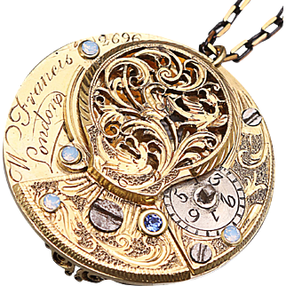 Steampunk Jewelry Steampunk Necklace Steampunk Pendant Verge Fusee
