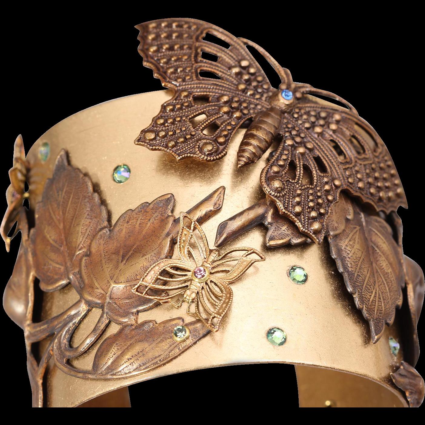 Butterfly Bracelet Butterfly Cuff Butterfly Wing Large Cuff Bracelet