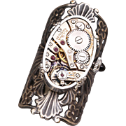 Steampunk Ring Victorian Style Steampunk Ring Womens Steampunk Ring