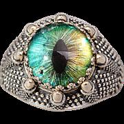 Dragon Claw Ring Dragon Eye Ring Sterling Silver Eye Ring