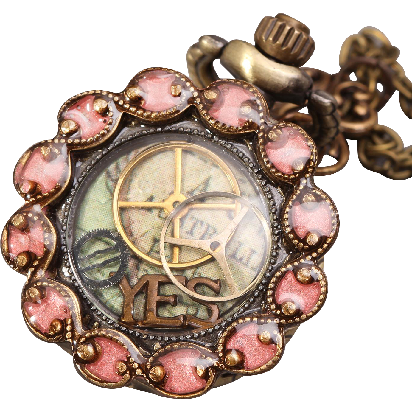 Womens Pocket Watch Steampunk Necklace Locket Watch Necklace