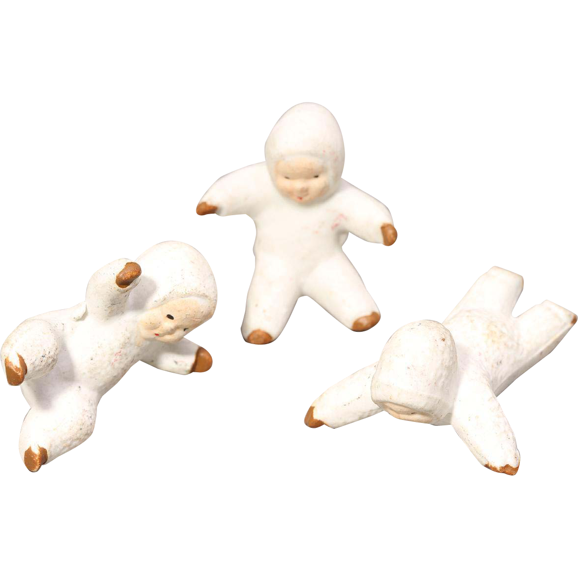 Vintage Snowbabies RARE Vintage Snow Babies Made In England Snowbaby